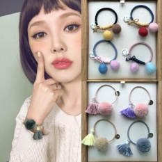 Korean Style New Hair Ball Clip Tassel Fashen Simple Bracelet - intl