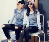 Kualitas Versi Korea Trend Baseball Pakaian Pasangan Jaket Ringan Grosir Grey Intl Oem