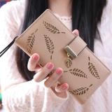 Dapatkan Segera Dompet Panjang Wanita Korea Fashional Panjang Dompet Clutch Pemegang Kartu Koin Dompet Handbags Daun Bentuk Berongga 5 Warna Tersedia Intl