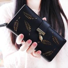 Toko Dompet Panjang Wanita Korea Fashional Panjang Dompet Clutch Pemegang Kartu Koin Dompet Handbags Daun Bentuk Berongga 5 Warna Tersedia Intl Murah Di Tiongkok