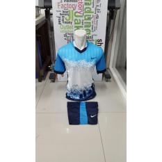 Kostum Kaos Sepakbola Futsal Volly Takraw Dryfit Printing M L XL Hijau/Merah/Biru/Kuning Hitam Plus Celana Pendek 23.12