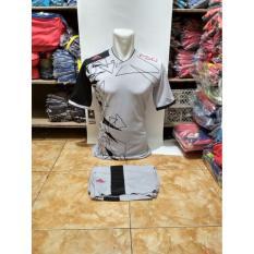 Kostum Kaos Sepakbola Futsal Volly Takraw M L XL Abu-abu Plus Celana Pendek Abu-abu