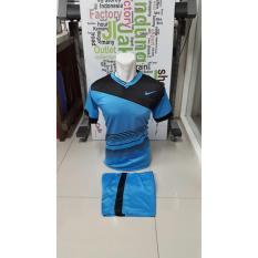 Kostum Kaos Sepakbola Futsal Volly Takraw M L XL Hijau/Merah/Biru/Kuning Hitam Plus Celana Pendek 23.2