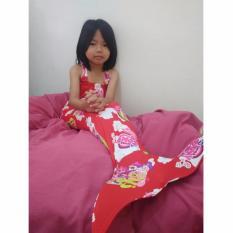 Kostum Renang Mermaid - Baju Putri Duyung Motif Little Pony [MERAH]