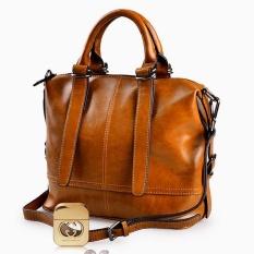 Spesifikasi Ksten Millet Kulit Sapi Nyata Ladies Tas Wanita Tas Kulit Asli Totes Messenger Bags Hign Kualitas Designer Luxury Merek Tas Kuning Intl