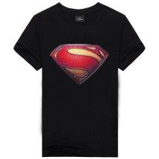 Toko Kualitas Baik Dan 100 Katun Superman Karikatur Pria Fashion T Shirt Nya Hitam Murah Di Tiongkok