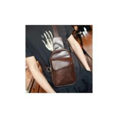 Spesifikasi Kualitas Terbaik Tas Selempang Slempang Sling Bag Kulit Pria Earphone Hole Murah