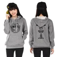 Jual Beli Kuhong Bts Bangtan Boys Hoody Kardigan Sweater Hoodies Pullover Grey Intl Baru Tiongkok