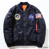 Spesifikasi Kuhong Fashion Nasa Penerbang Bomber Jaket Bisbol Mantel Tipis Rak Jaket Terbaru