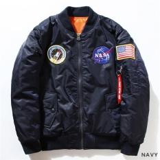 Ulasan Lengkap Kuhong Fashion Nasa Penerbang Bomber Jaket Bisbol Mantel Tipis Rak Jaket