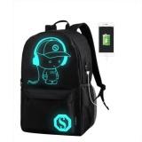 Promo Kuhong Pria Women Backpack Tas Sekolah Luminous Anti Theft Lock Usb Charger Tas H01 Besar Intl Kuhong
