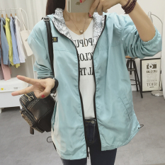 Cara Beli College Style Spring New Style On Both Sides Wear Hooded Jacket Kacang Hijau Baju Wanita Jaket Wanita