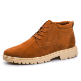 Jual Kulit Asli Pria Boots Bang Pendek Boot Terbuka Kerja Sepatu Kulit Asli Pria Sepatu Pendek Boot Outdoor Sepatu Kerja Brown Branded