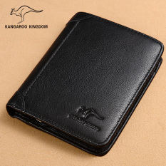 Jual Kangaroo Kingdom Dompet Pria Kulit Asli 361 118 K Drop Lapisan Pertama Dari Pola Kulit Hitam Branded Original