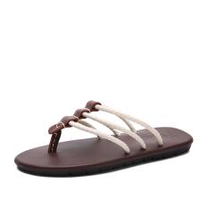 Kulit Hitam Kulit Hitam Anak Muda Pria Pantai Sandal Summer Sendal (Putih 918 Sendal)