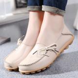 Harga Kulit Musim Semi Dan Musim Gugur Permukaan Yang Lembut Sepatu Hak Perempuan Sepatu Kulit Kacang Nasi Putih Termurah