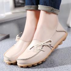 Toko Kulit Musim Semi Dan Musim Gugur Permukaan Yang Lembut Sepatu Hak Perempuan Sepatu Kulit Kacang Nasi Putih Oem Tiongkok