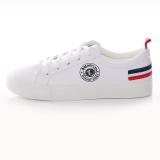 Jual Huanqiu Sepatu Kets Wanita Warna Putih Permukaan Kulit Sol Datar Versi Korea Putih Universal Grosir