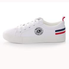Harga Huanqiu Sepatu Kets Wanita Warna Putih Permukaan Kulit Sol Datar Versi Korea Putih Dan Spesifikasinya