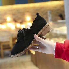 Jual Kulit Matte Baru Sepatu Hitam Sepatu Wanita Flat Shoes Oem Ori