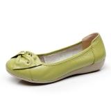 Harga Kulit Sepatu Hak Perempuan Datar Dengan Sepatu Santai Buah Hijau Oem Baru