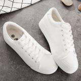 Diskon Produk Sepatu Kanvas Wanita Sol Tebal San Versi Korea Putih