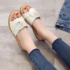 Harga Kulit Perempuan Wanita Hamil Pan Sepatu Sandal Wanita Dan Sandal Beige Satu Set