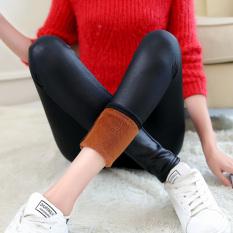 Harga Kulit Pinggang Tinggi Legging Celana Kulit Legging Hitam Baju Wanita Celana Wanita Oem Ori