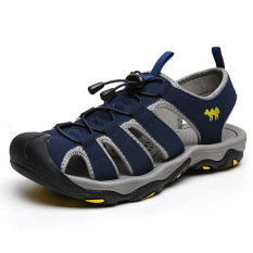 Promo Laki Laki Versi Korea Non Slip Sepatu Pantai Terbuka Tebal Soled Biru Tua Biru Tua Di Tiongkok