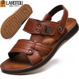 Kulit Pria Musim Panas Baru Dan Sandal Coklat Muda Sepatu Pria Sepatu Sendal Asli