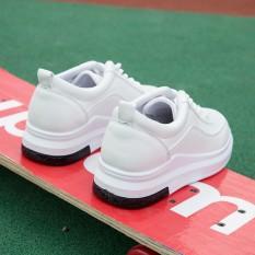 Kulit Putih Sol Tebal Papan Sepatu Sepatu Kets Putih (Putih)