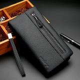 Dapatkan Segera Kulit Serigala Baru Pria Model Panjang Ritsleting Dompet Tas Tangan N519