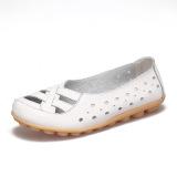 Jual Sepatu Wanita Kulit Ukuran Besar Sandal Summer Setengah Baya Ibu Putih Branded Murah