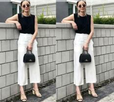 [Kulot Molita White SW] Celana Wanita Baloteli Putih