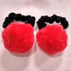Situs Review Kuncir Rambut Kunciran Rambut Pompom Warna Merah 1 Pasang