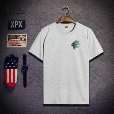 Promo Kuno Segar Kecil Baru T Shirt Abu Abu 437