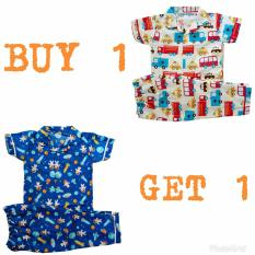 Kya Toys BUY 1 GET 1 FREE Piyama Katun Anak Laki 1-16 tahun