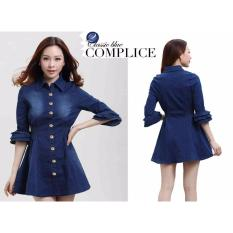 Beli Kyoko Fashion Dress Jeans Blue Kyoko Fashion Murah