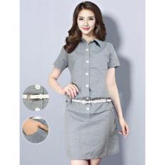 Harga Kyoko Fashion Dress Pevita Grey Termahal