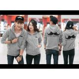 Harga Kyoko Fashion Jaket Couple Kumis Grey Termurah