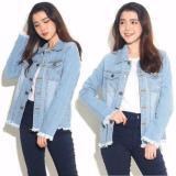 Miliki Segera Kyoko Fashion Jaket Jeans Chole Biru