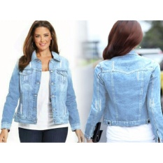 Beli Kyoko Fashion Jaket Jeans Vita Biru Murah Dki Jakarta