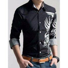 kyoko fashion kemeja calvin -(hitam)
