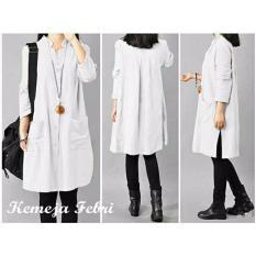 Harga Kyoko Fashion Kemeja Febri Putih Termurah