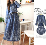 Harga Kyoko Fashion Maxi 2074 Blue Termurah