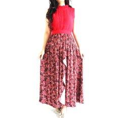 La Haute Adriana Dress Perempuan - Merah