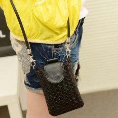Toko La Vie Shoulder Bags Tas Telepon Tas Rajut Clutch Untuk Iphone 4S 5 5S Mp3 4 Hitam Murah Tiongkok