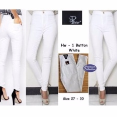 Labelledesign CELANA JEANS HIGH WAIST PANTS PREMIUM - PUTIH