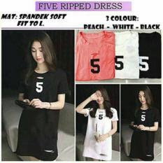 Labelledesign Five Ripped Dress - Black