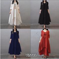 Spesifikasi Labelledesign Visgel Dress Maxy Navyblue Beserta Harganya